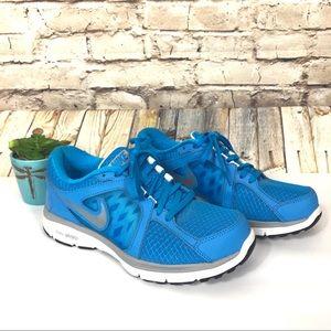 Nike dual fusion run sneakers blue running shoes